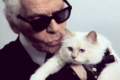 Karl Lagerfeld a creat accesorii inspirate de pisica sa, Choupette