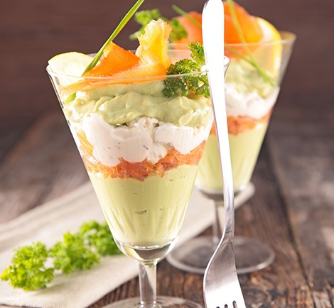 salmon,avocado mousse