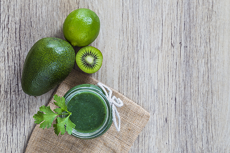 Green juice and ingredients