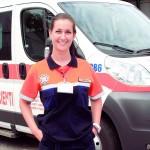 Nicoleta Turcu, voluntar pe ambulanță