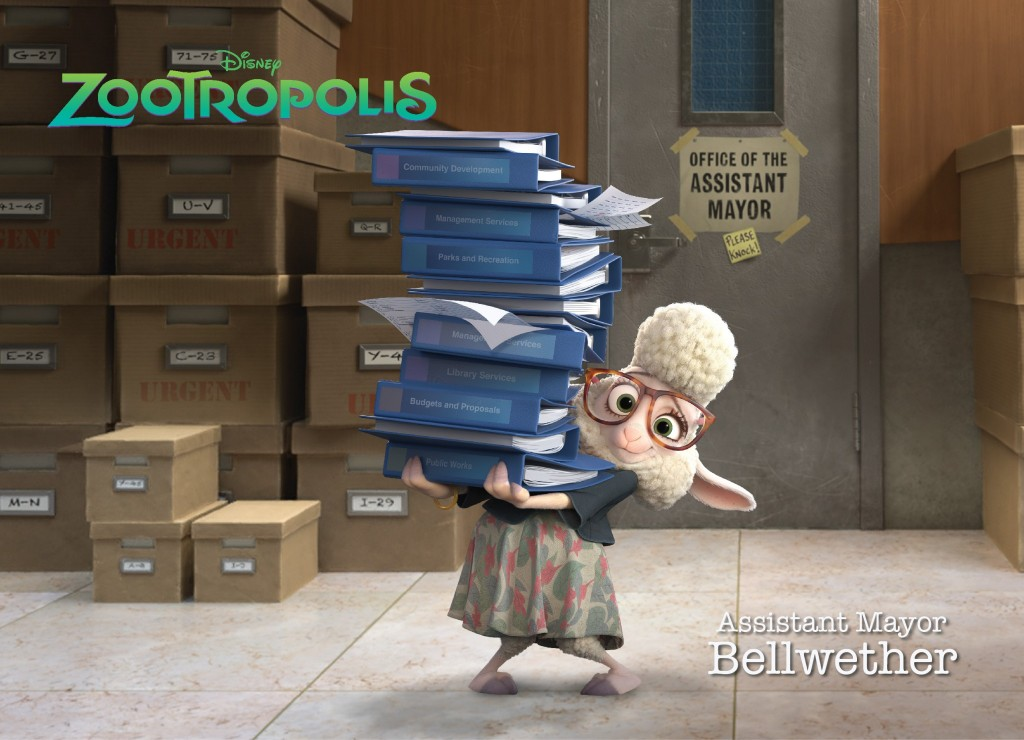 Zootropolis - Assistent Mayor Bellwether