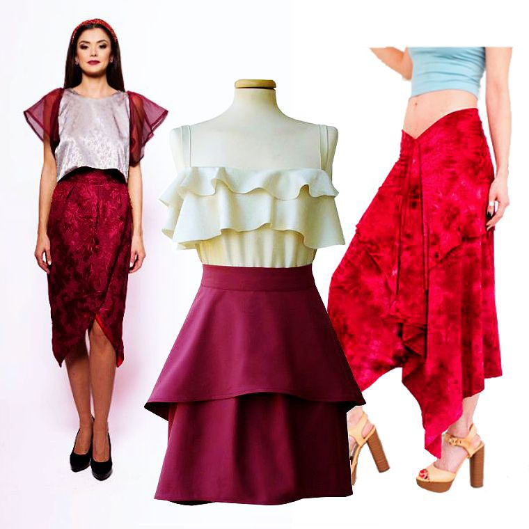 Poza 4 - fuste handmade, fusta asimetrica, cumpara online de pe Breslo.ro
