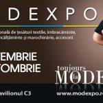 (P) Începe evenimentul modei și al industriei textile  MODEXPO are loc între 29 septembrie și 2 octombrie,  la ROMEXPO
