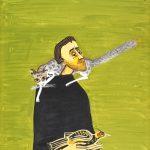 Sorin Ilfoveanu, Man with Cat and Pheasant (Barbat cu pisica si fazan), Estimate €2,000 - €2,500