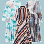 Cum purtăm o rochie midi cu cele mai sofisticate imprimeuri de primăvară