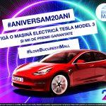 Un mall din București aniversează 20 de ani și pune în concurs o mașină Tesla
